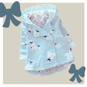 Double Breasted Button Spring Toddler Jacket